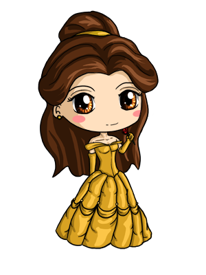 Pua drawing belle. Chibi by icypanther deviantart