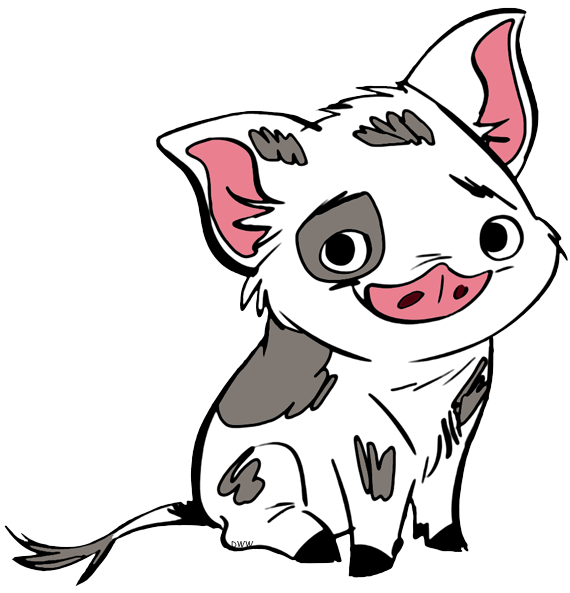 Pua drawing pin the tail on. Www disneyclips com imagesnewb