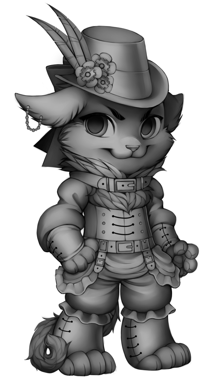 Tool drawing steampunk. Image cat base png