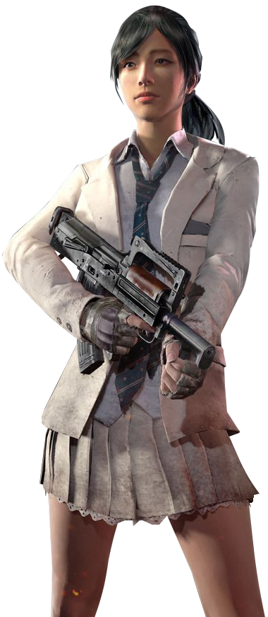 Schoolgirl render cut by. Pubg png clipart library stock