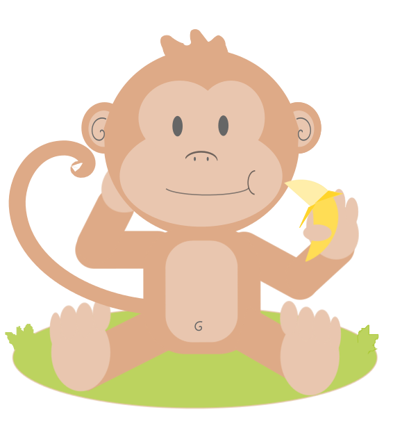 Domain monkey . Public clipart graphic black and white library