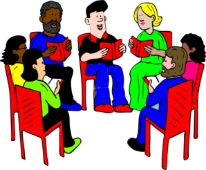 Public clipart group. Of readers clip art