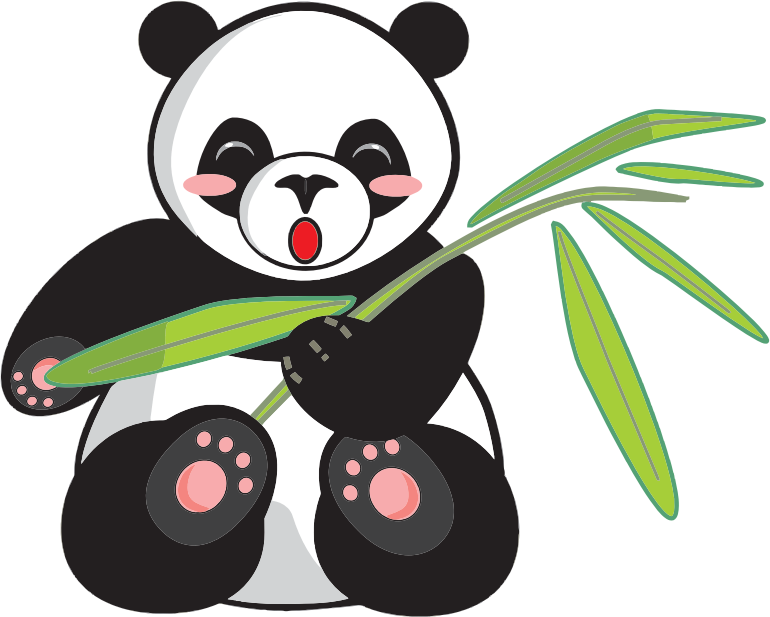 Panda free to use. Public domain clipart graphic royalty free stock