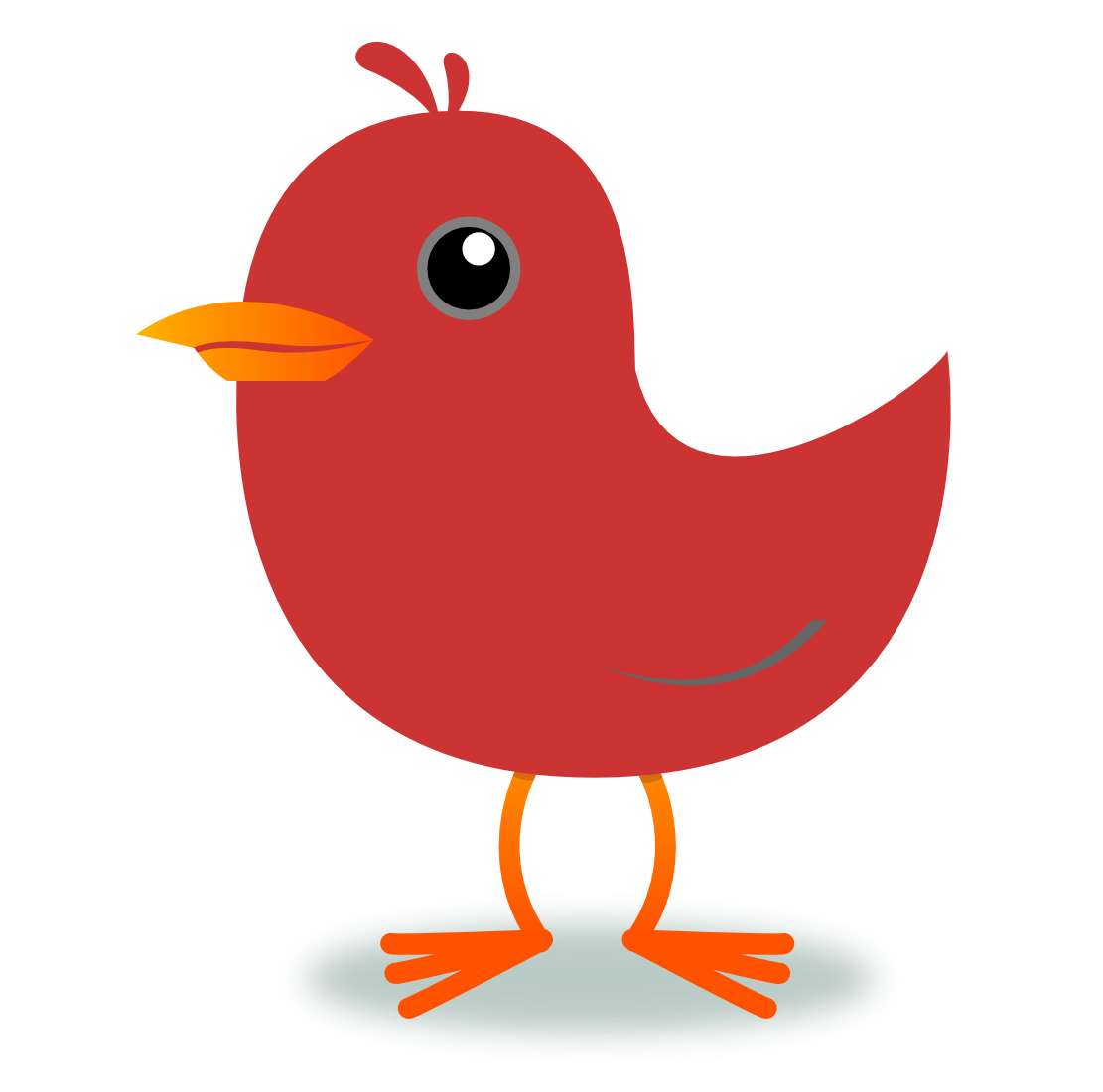 Public domain clipart bird. D chicken free stock