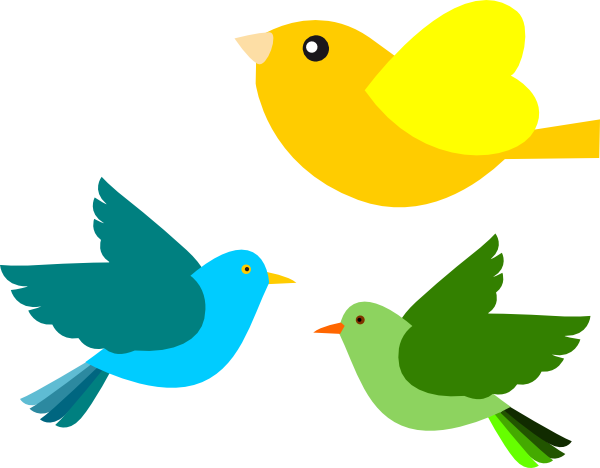 Public domain clipart bird. Clip art birds vector