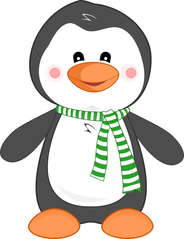 Penguin clipart happy