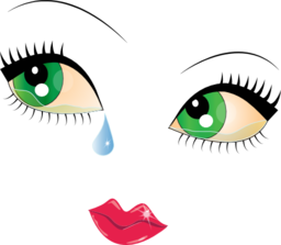 Public domain clipart pretty eye. Crying face smiley emoticon