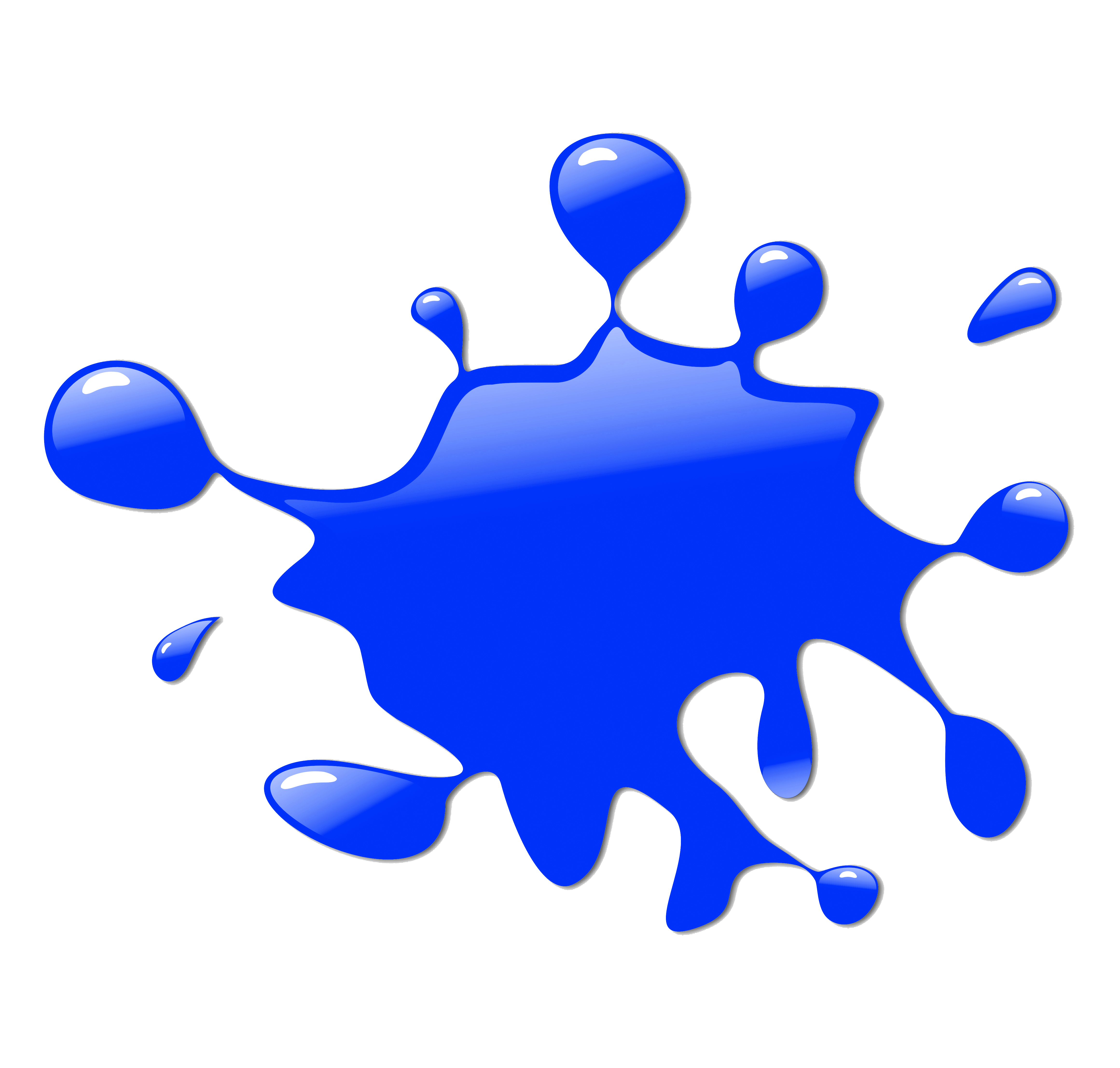 blue paint splatter png