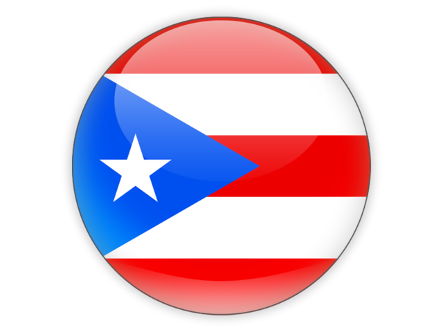 Puerto rican flag png. Round icon illustration of