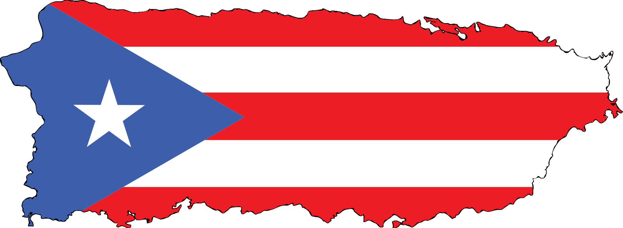 Puerto rico map png. File pr flag island