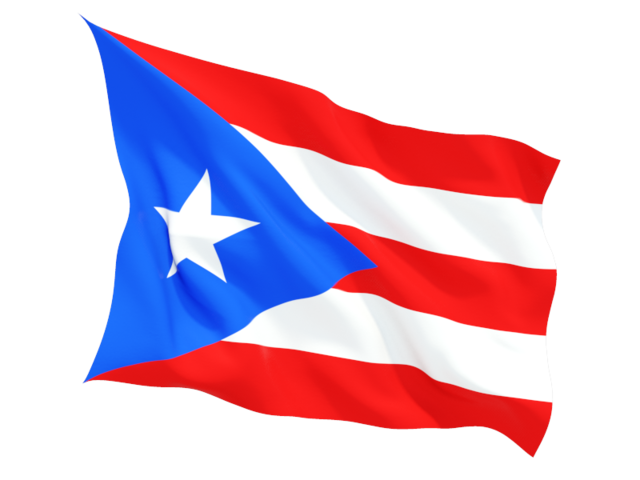 Puerto rican flag png. Fluttering illustration of rico