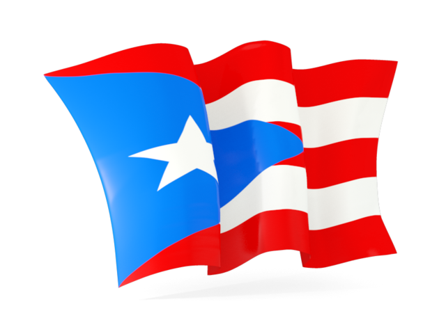 Puerto rican flag png. Waving illustration of rico