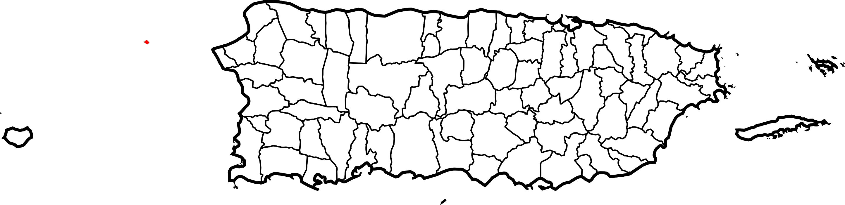 Puerto rico map png. File of highlighting desecheo