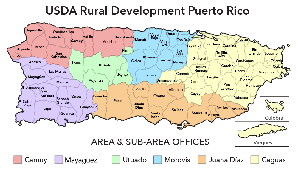 Puerto rico map png. Contacts usda rural development