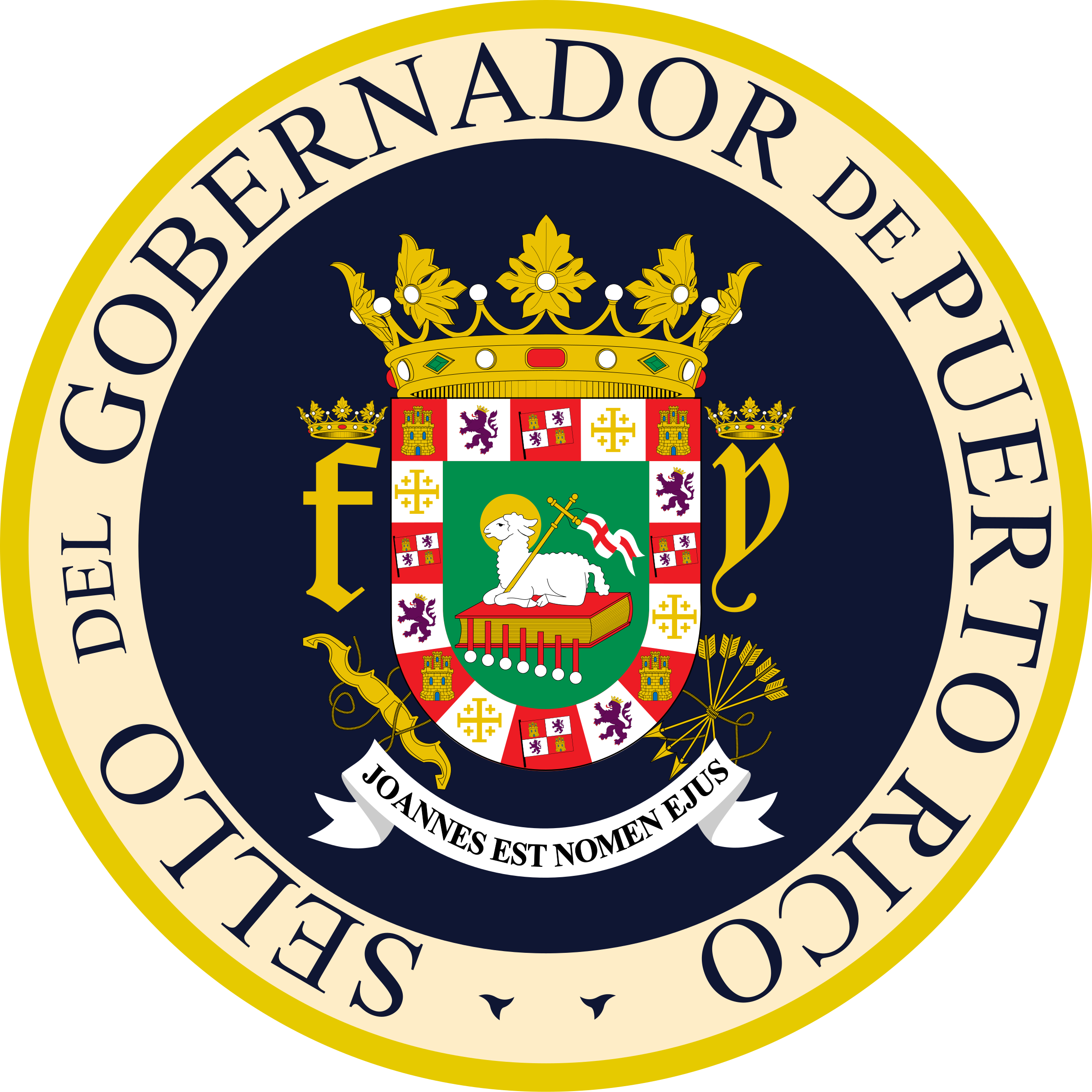 Puerto rico seal png. File of governor svg