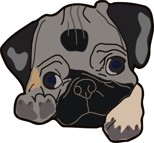 Pug clipart playful. Free cliparts download clip