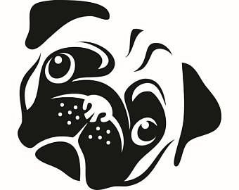 Pug clipart pencil. Awesome bulldog images black