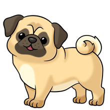 doggy drawing pug