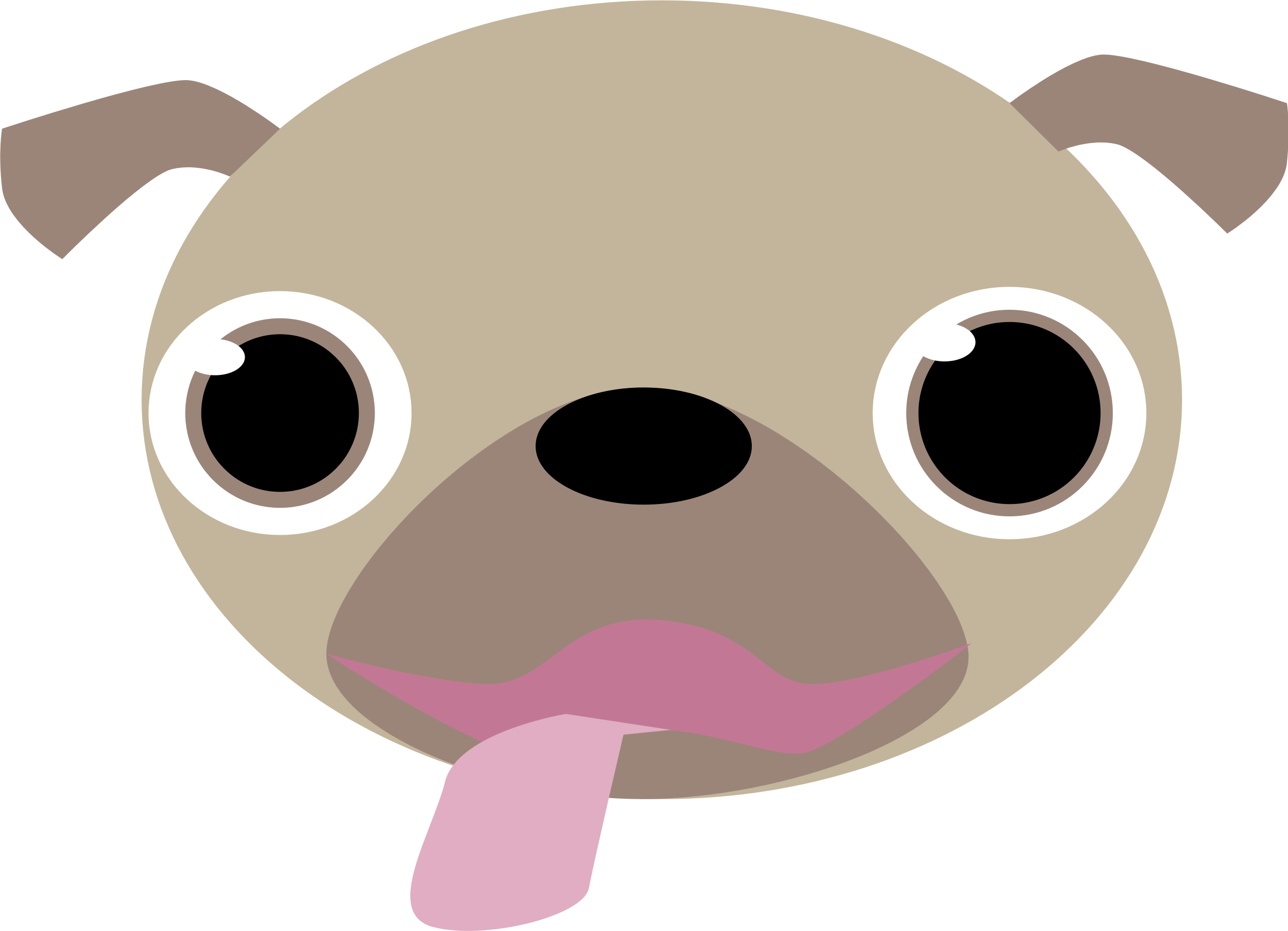 Pug head png. Face icons free and