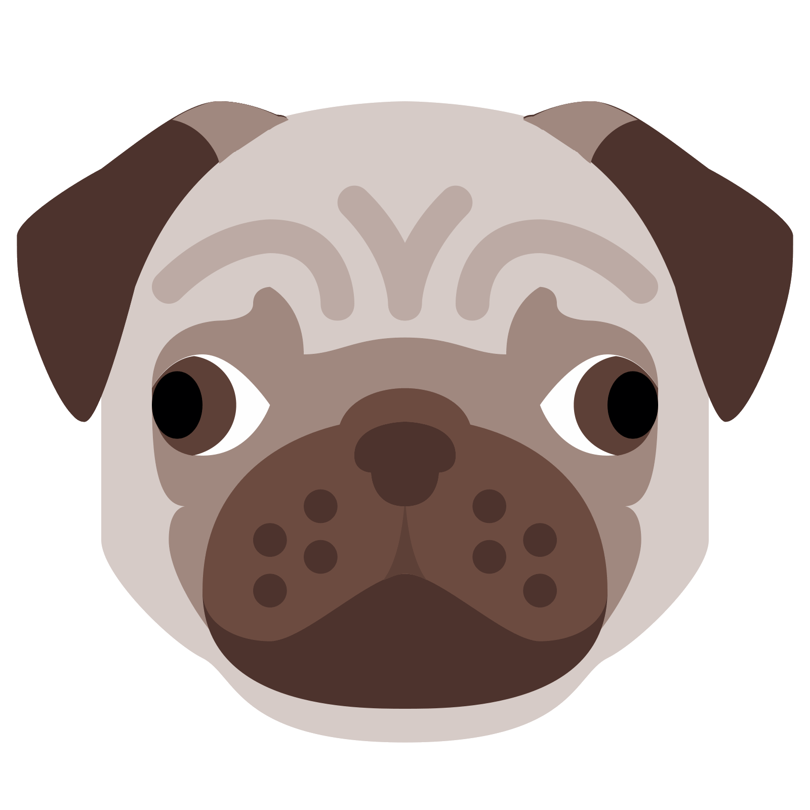 Pug face png. Icon free download and