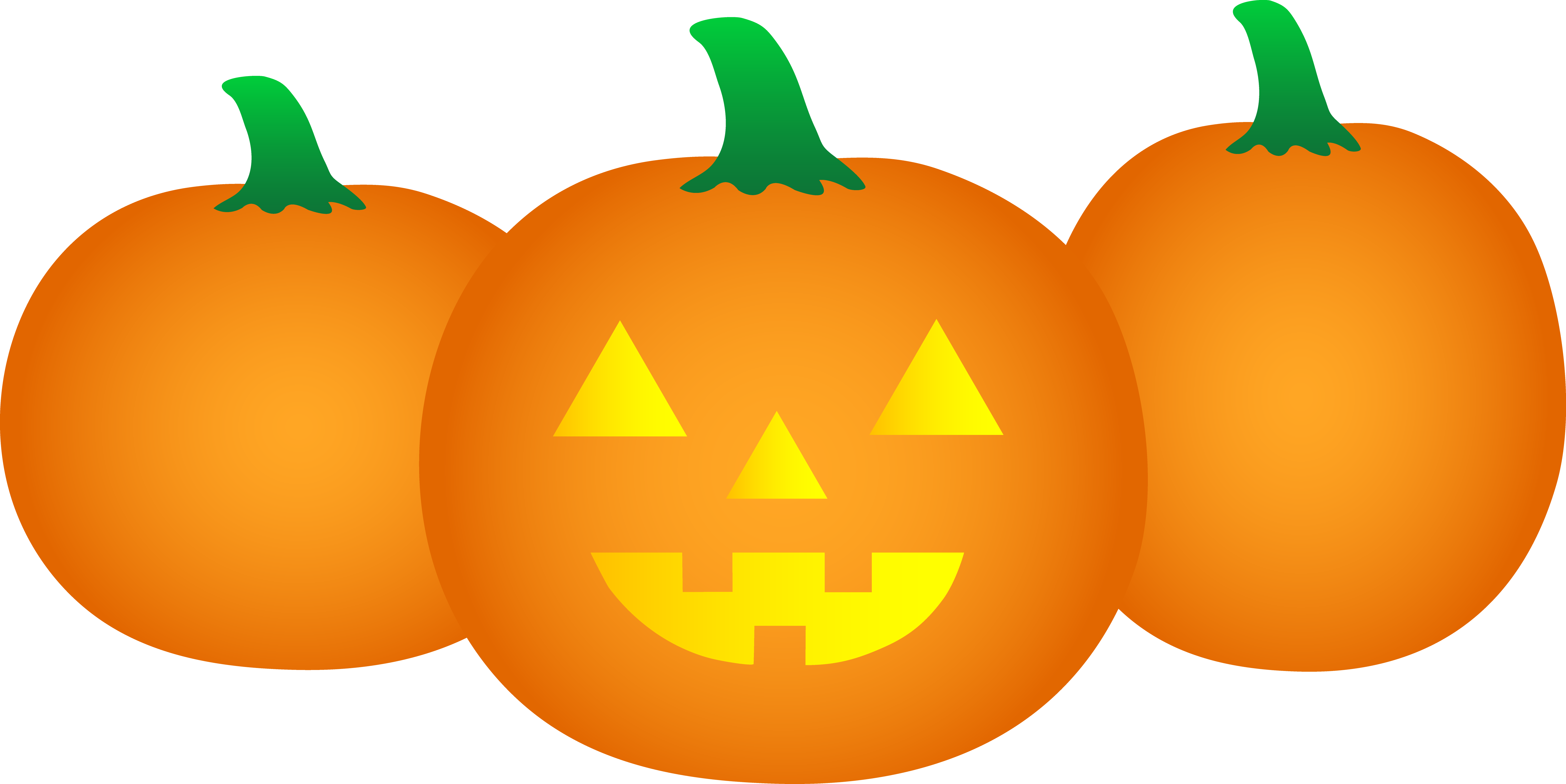 Pumkin vector carved pumpkin. Three halloween pumpkins free