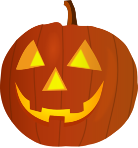Pumkin vector pumpkin face. Cute clip art carved