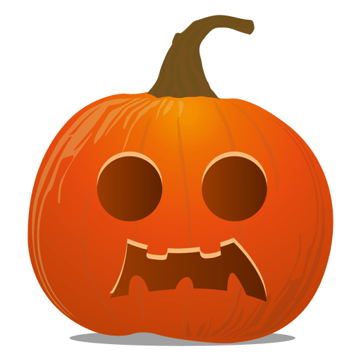 Pumpkins vector colored. Halloween pumpkin emoticon transparent