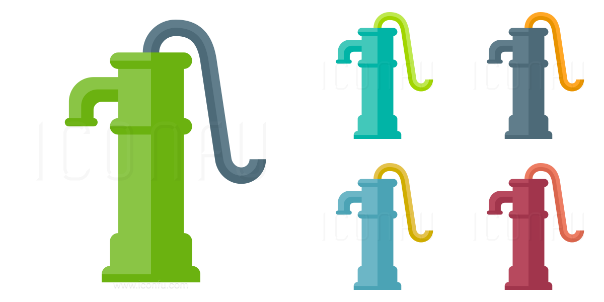Pump clipart hand pump. Icon paper style iconfu