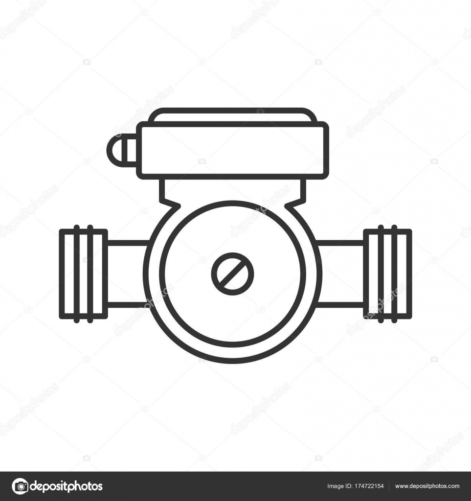 Pump clipart submersible pump. Water icon stock vector