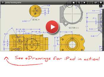 Pump drawing solidworks. Edrawings for ipad