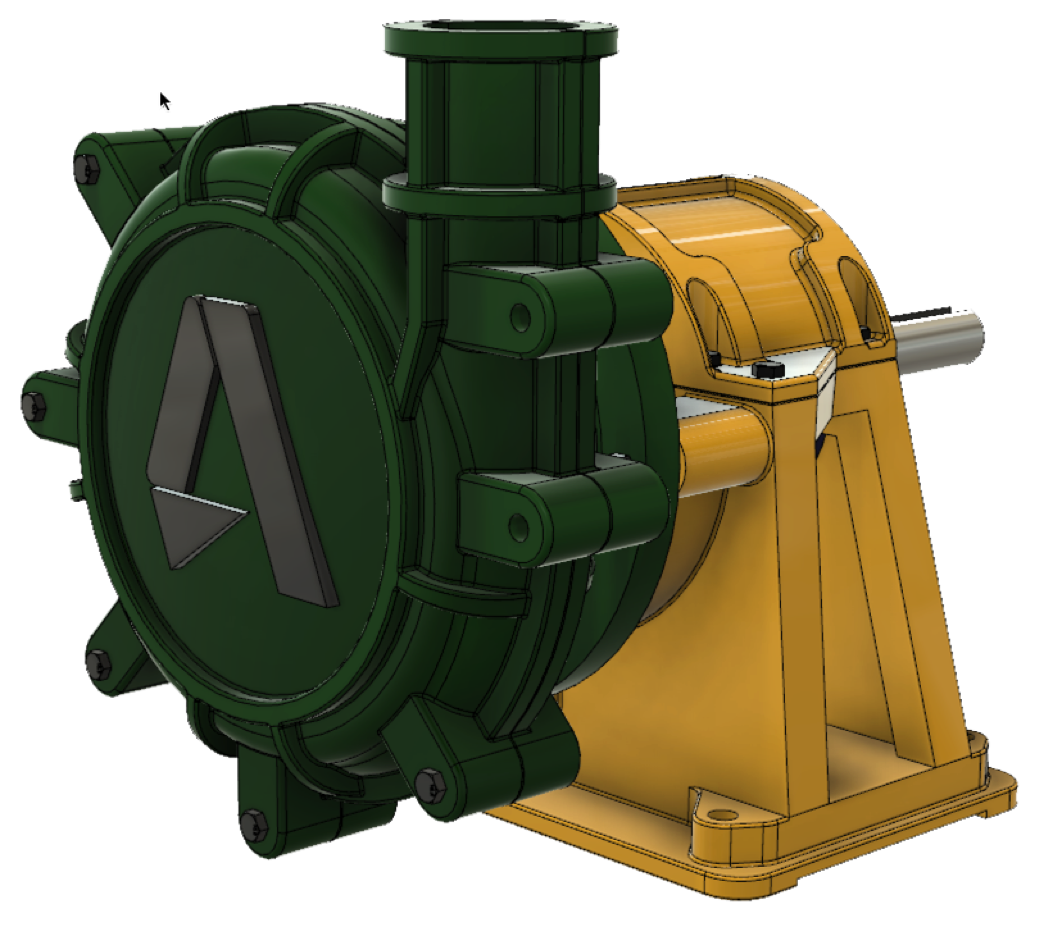 Pump drawing solidworks. From to fusion distributed