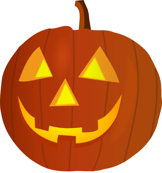 Transparent pumpkins carved. Collection of free clipart