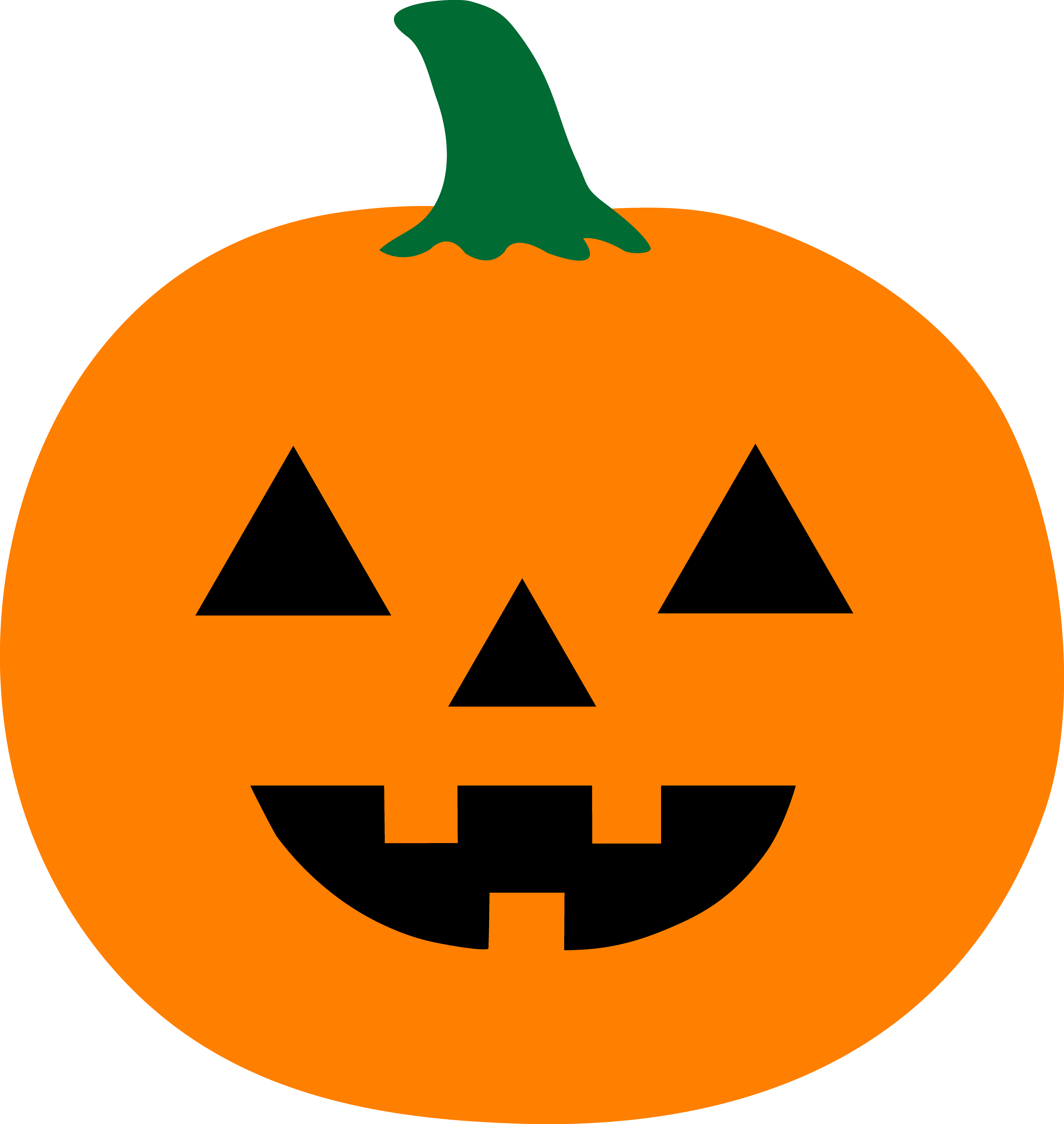 Jackolantern vector pumpkin carving. Simple halloween jack o