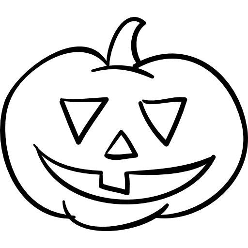 Pumpkin outline png. Halloween head free icons
