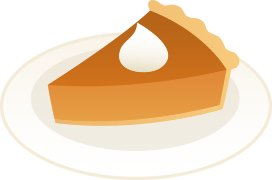 Pumpkin pie clipart png. Slice of on plate