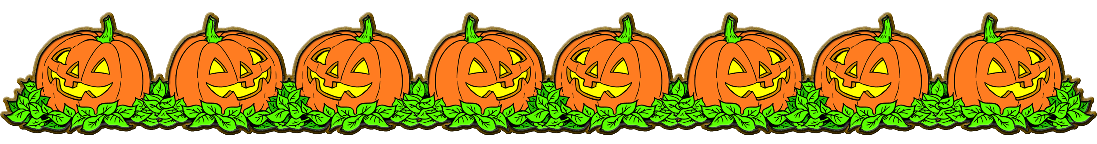 Pumpkins border png. Collection of halloween