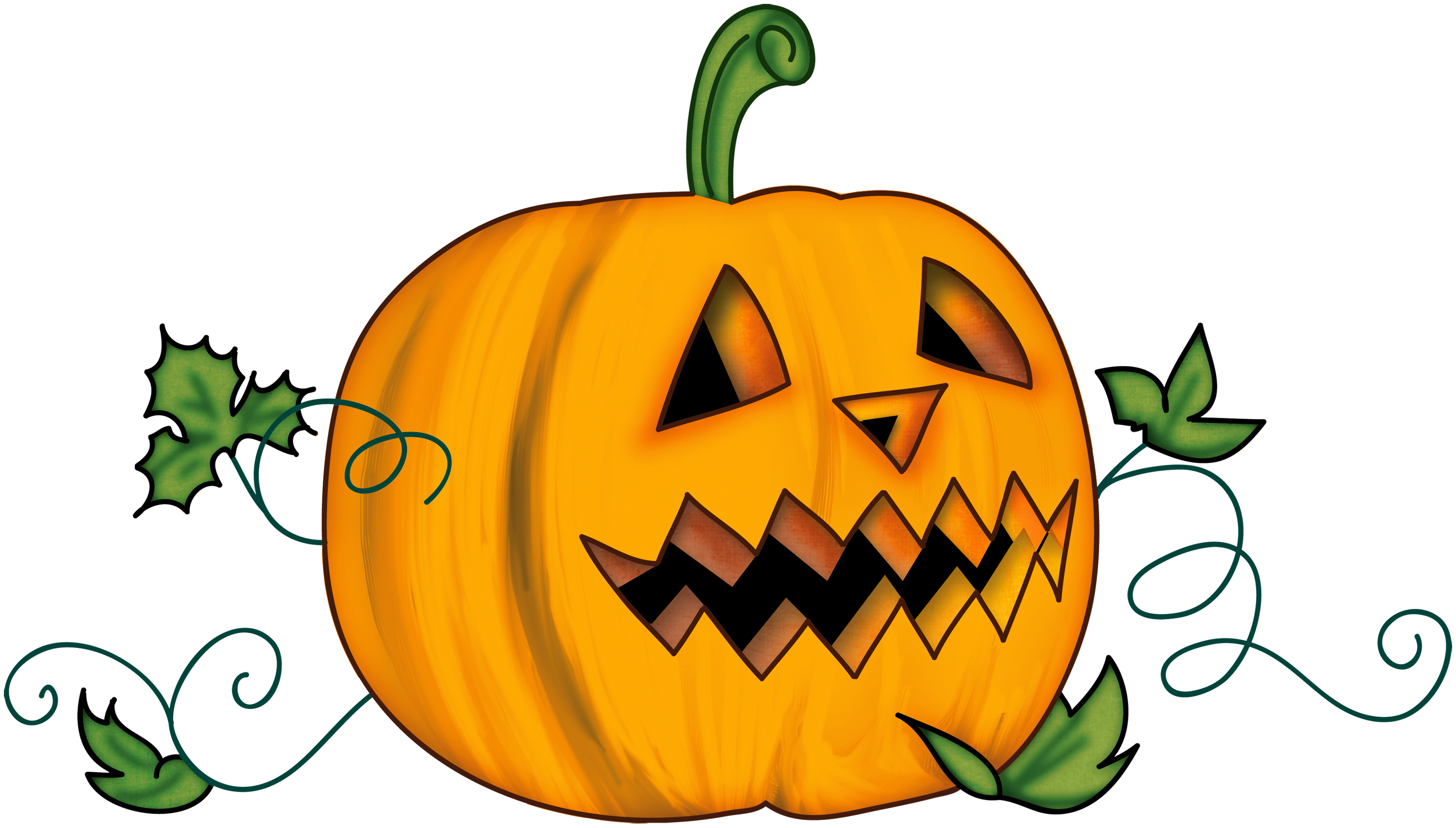 Pumpkins clipart happy birthday. Halloween creepy pumpkin gallery