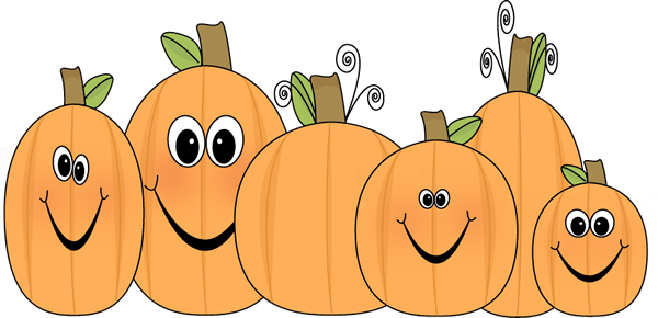 Pumpkin clip patch. Cute art image of