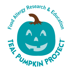 Pumpkins vector colored. Teal pumpkin project food