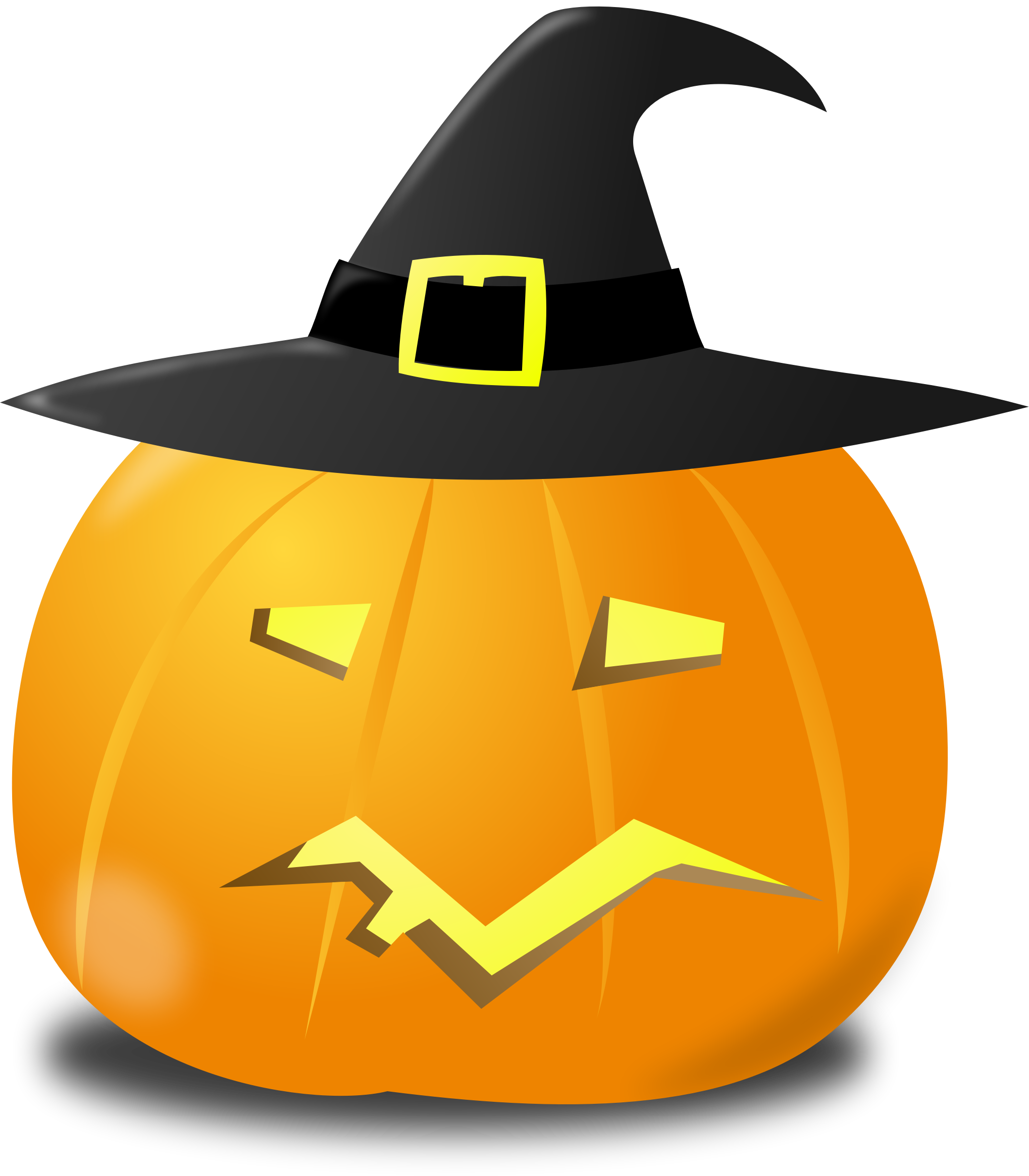 Pumpkins vector colored. Wtich pumpkin icons png