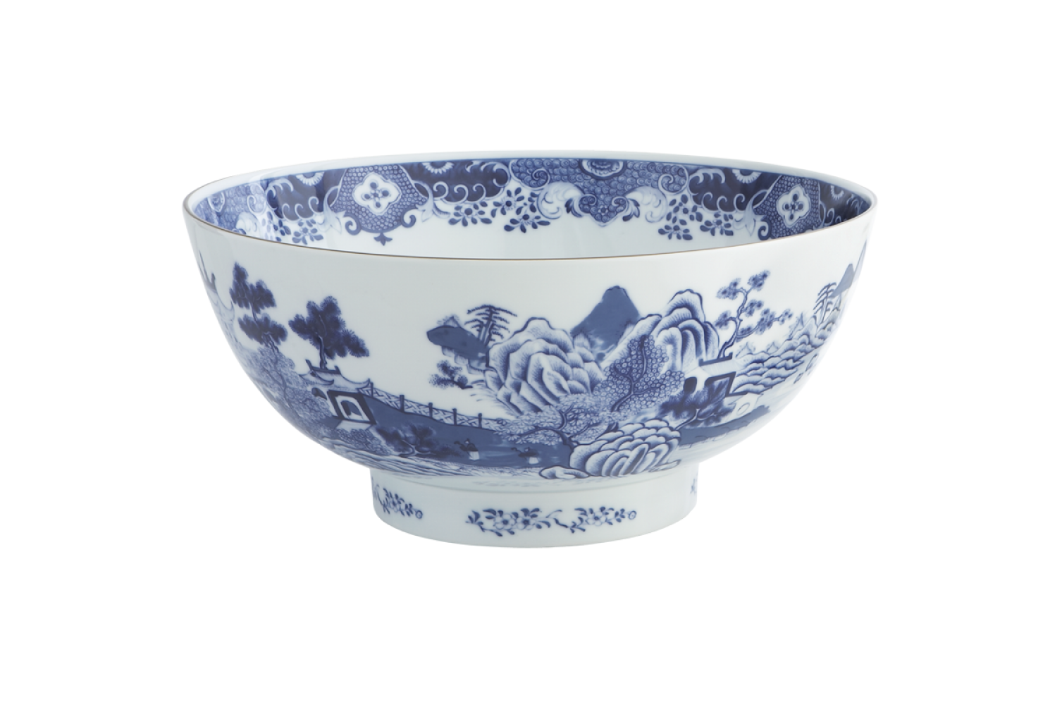 Punch bowl png. National trust blue white