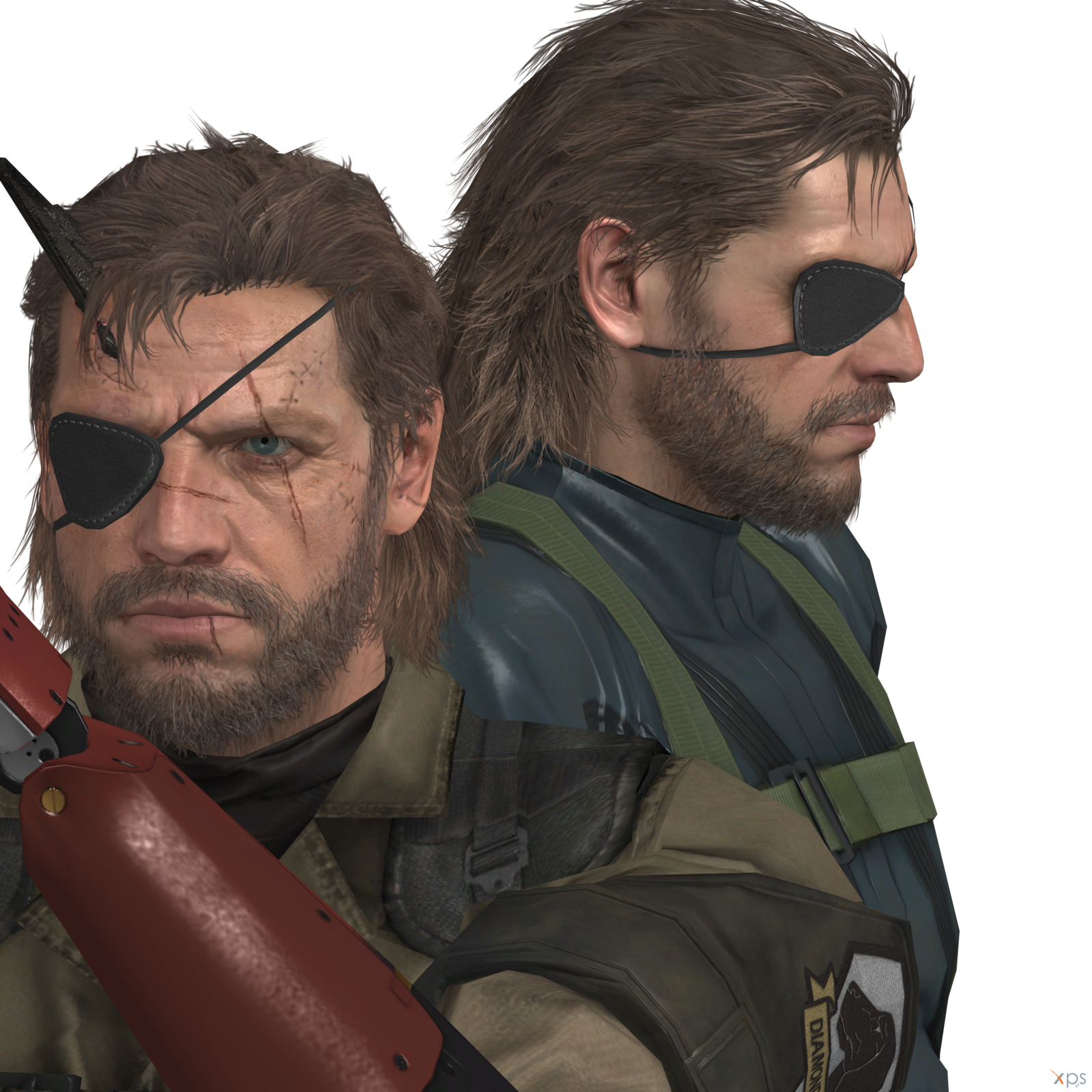 Punished snake eyepatch png. Two big bosses venom