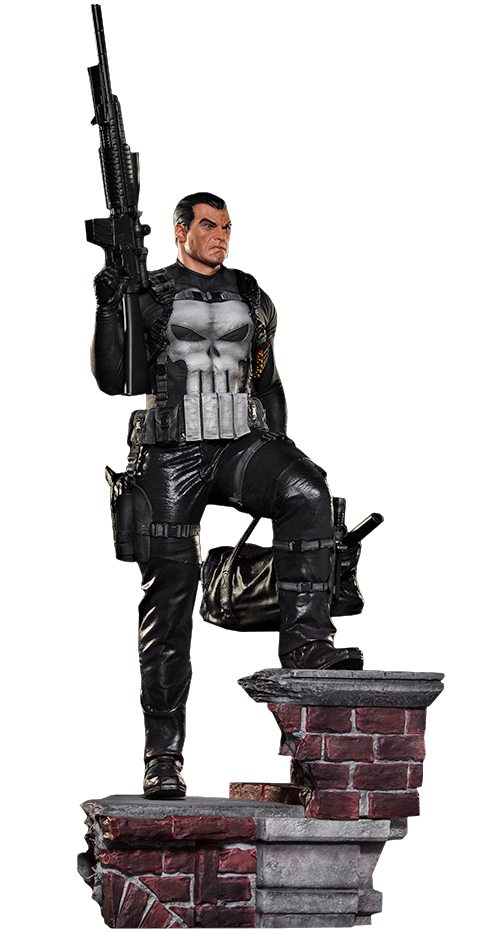 Punisher. Marvel the statue by