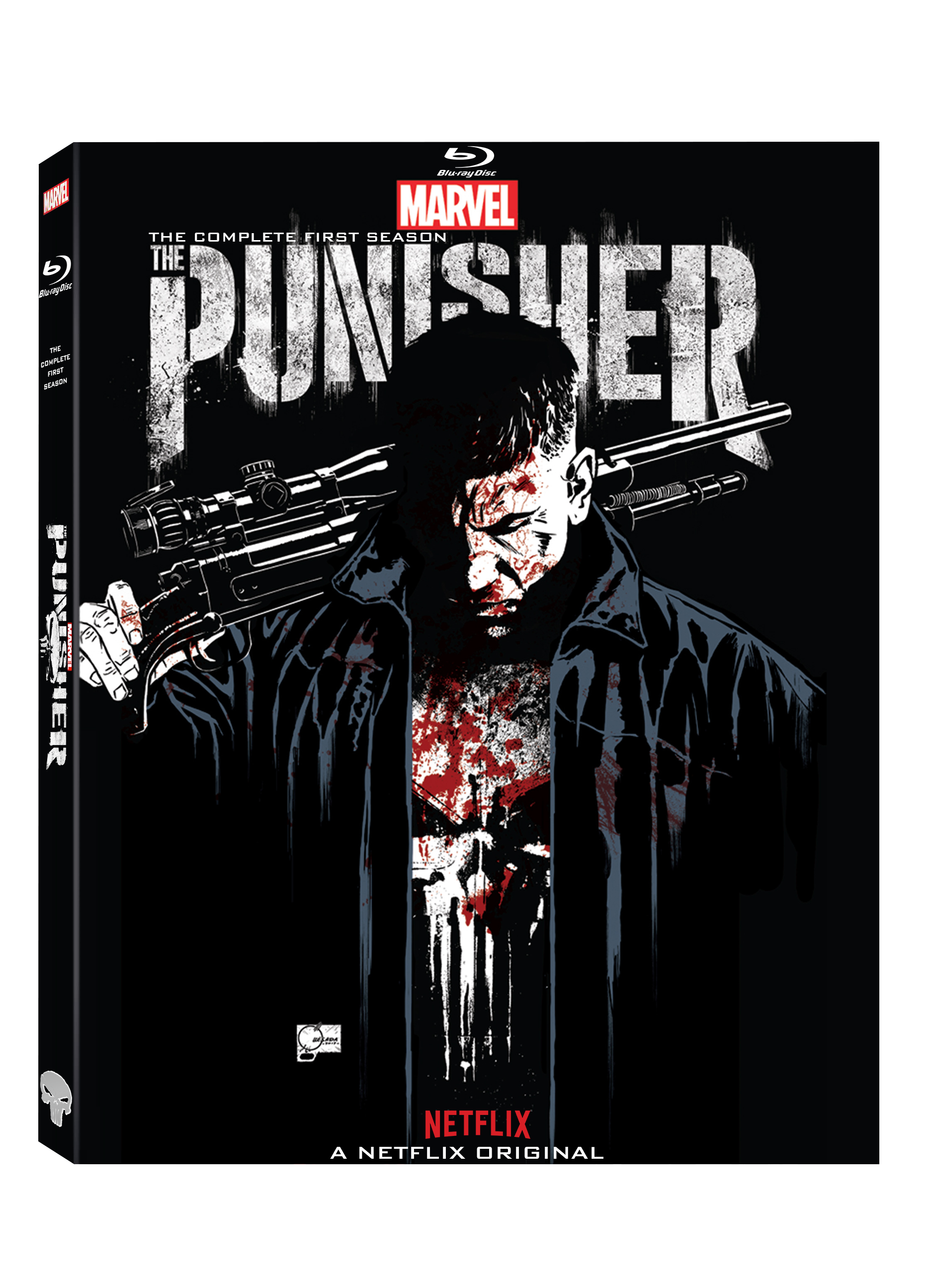 Netflix drawing poster. The punisher season blu