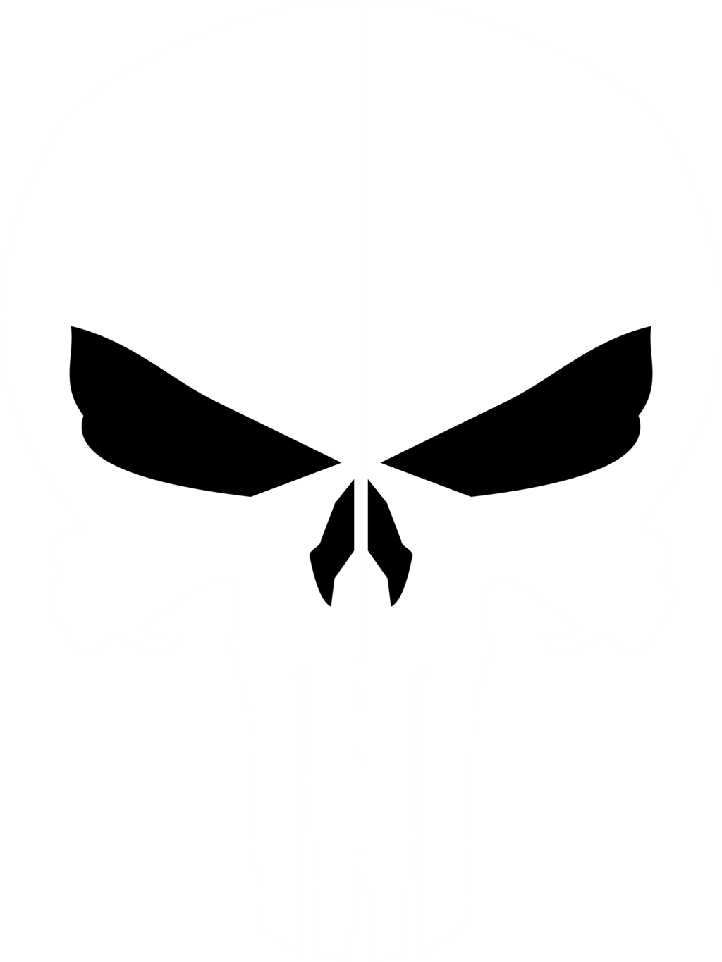 American vector punisher. Image skull by jmk