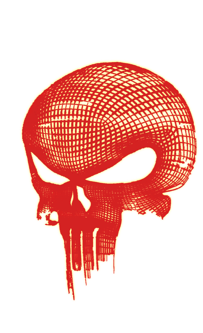 Punisher skull png. The glowing by dunedrifter