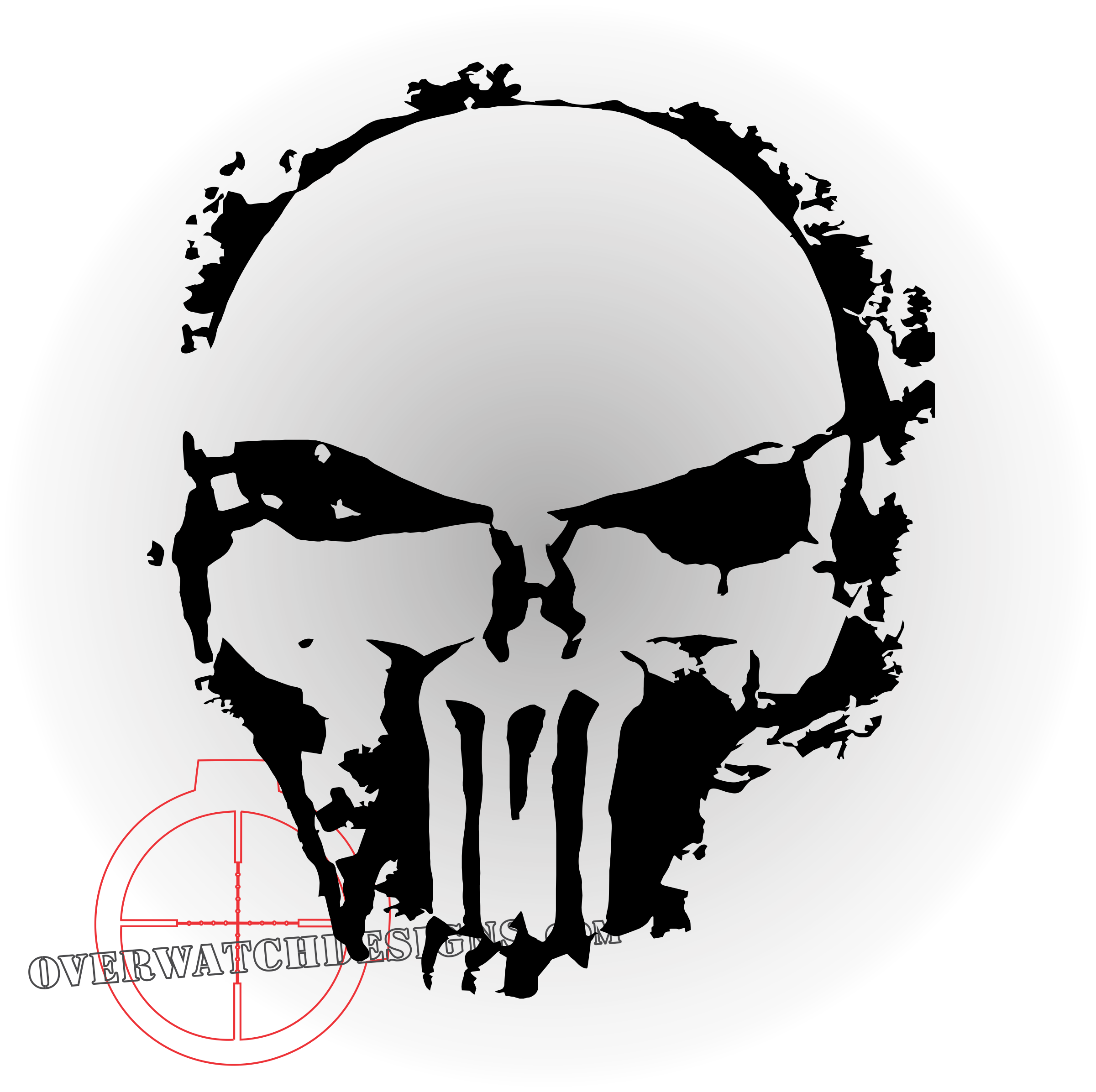 Punisher skull png. Spray paint edition overwatch
