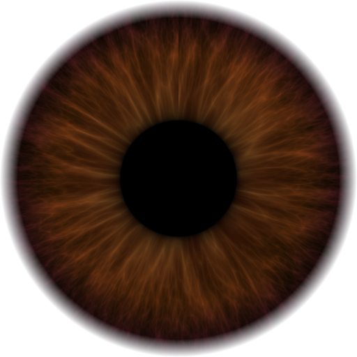 Pupil drawing dark brown. Iris png add to