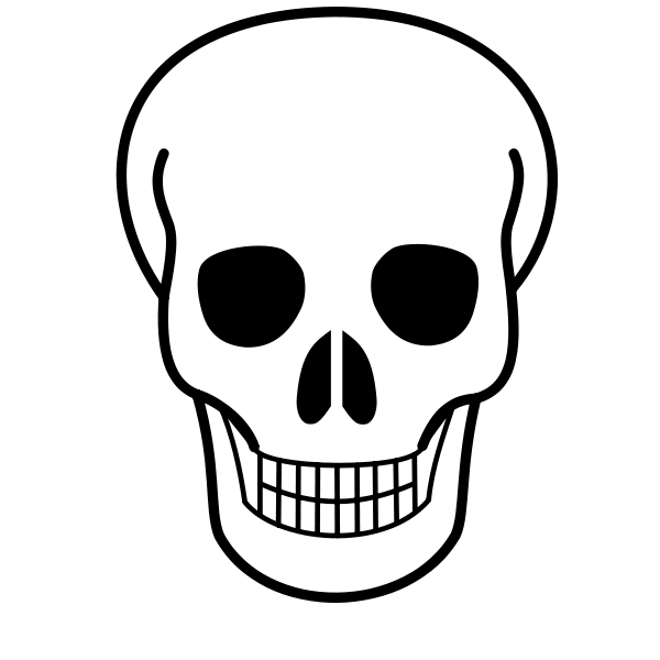 skull trooper clipart face