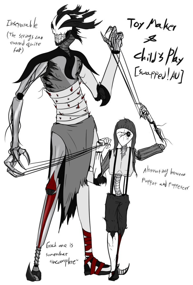Puppeteer drawing fantasy. Swapped au toy maker